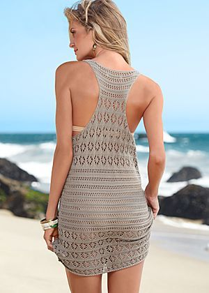 Racer back crochet cover up Cover Up