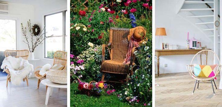 Decorar con sillas de ratán - http://www.decoora.com/decorar-con-sillas-de-ratan.html