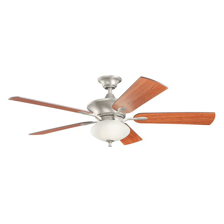 Kichler Lighting Orrin Collection 52-inch Brushed Nickel Ceiling Fan w/Light