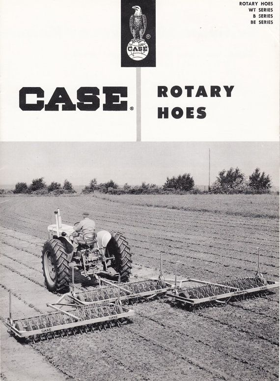 Vintage JI Case Company Rotary Hoes Brochure Models WT B & BE by QuinsippiMercantile on Etsy