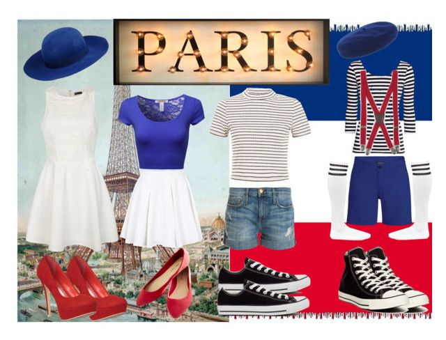 Pray for Paris by slytheriner on Polyvore featuring Ally Fashion, Topshop, Current/Elliott, Black Diamond, Wet Seal, Converse, George J. Love, Dsquared2, Armani Junior and La Tour Eiffel
