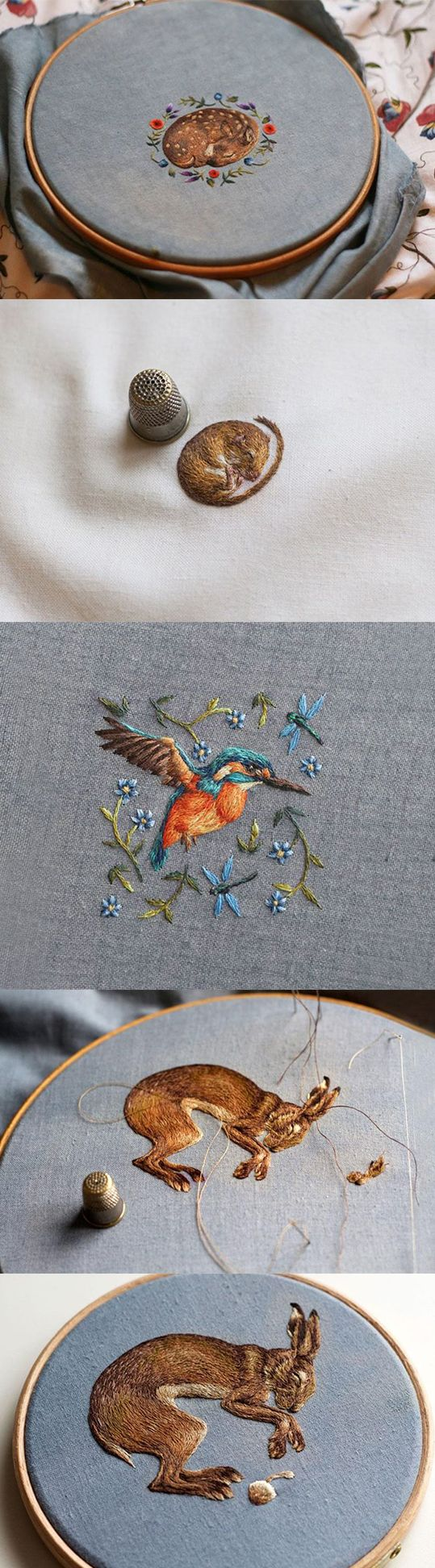 #Embroidery animals  This is beautiful  Chloe Giordano