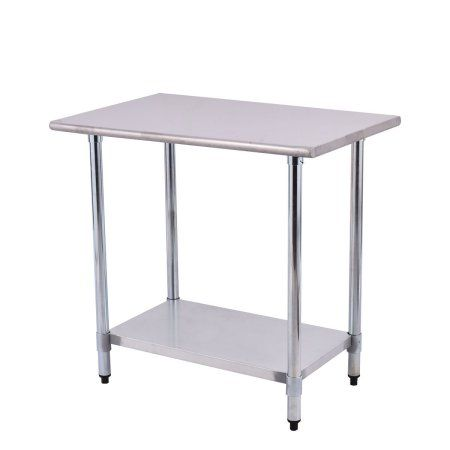 Costway 24'' x 36'' Stainless Steel Work Prep Table Commercial Kitchen Restaurant