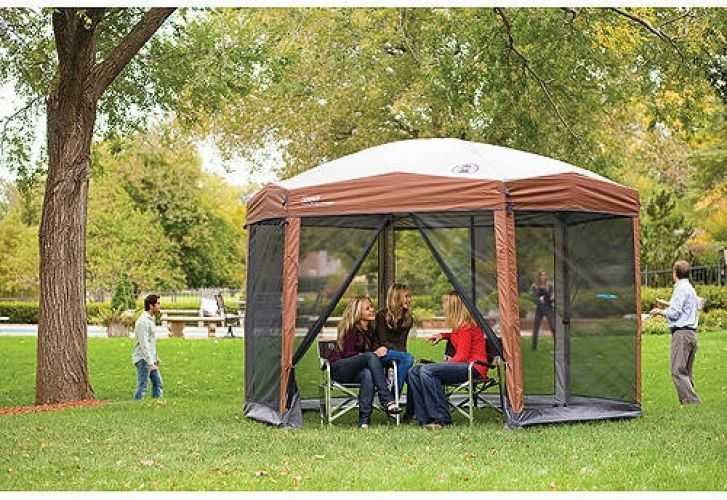 Coleman 12-by-10-foot Hex Instant Screened Canopy/Gazebo #Coleman