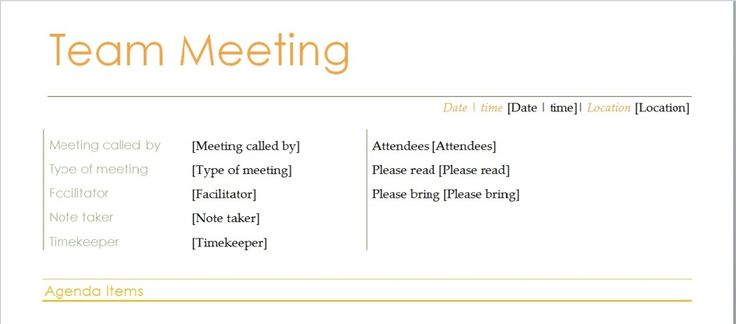 Team Meeting Agenda Template Microsoft Word Templates - example of agenda for a meeting