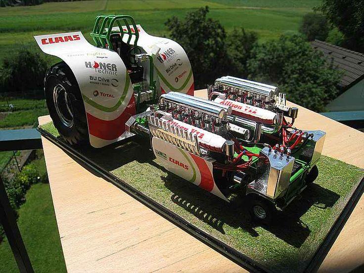 """Green Fighter"" Tractor Pulling Modell in 1:16 - Bildergalerie - Das Wettringer Modellbauforum"