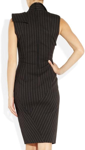 Donna Karan New York Origami WoolBlend Dress in Gray - Lyst