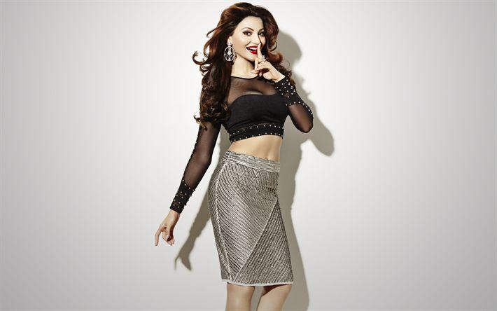 Download wallpapers Urvashi Rautela, Indian actress, Bollywood, 4k, beautiful woman, smile, makeup