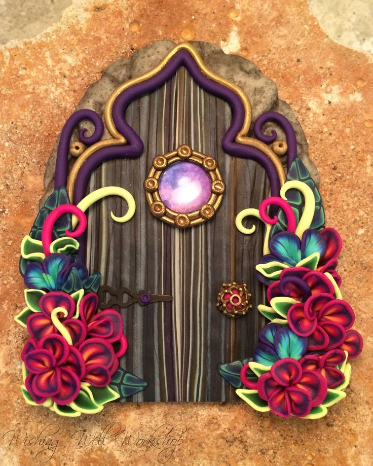 Polymer Clay Fairy Door by Jennifer Sorenson  sc 1 st  Pinterest & 112 best Polymer Clay Fairy Doors images on Pinterest | Clay fairies ...