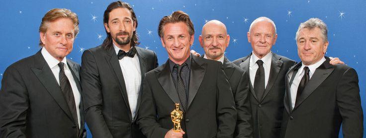 6 Best Actor Winners: Michael Douglas, Adrien Brody, Sean Penn, Ben Kingsley, Anthony Hopkins, and Robert DeNiro