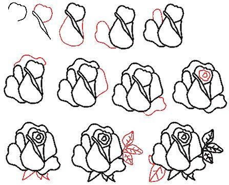 розы акварелью уроки - Поиск в Google