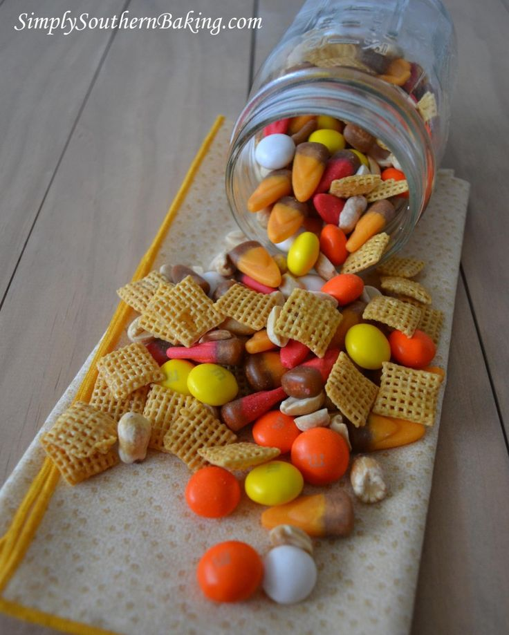 Sweet & Crunchy Fall Trail Mix - this stuff is addictive!