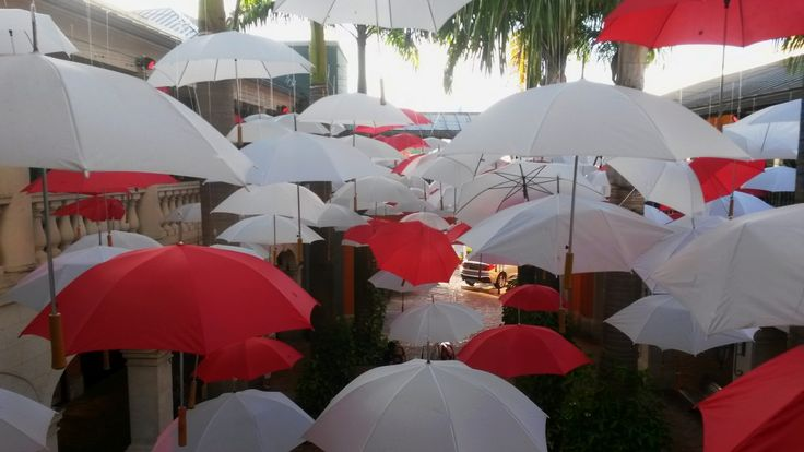 Love is in the air at Limegrove Lifestyle Centre in Barbados as they continue their umbrella theme