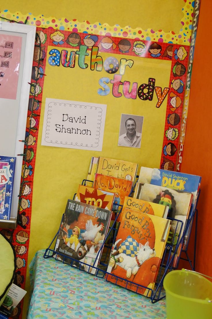 Author Study-I love the idea of always keeping an active author study.. There are so many great authors that I would love to introduce my kids to! These are great to set up after a read aloud so students can see more of the author's writings. {Image only}