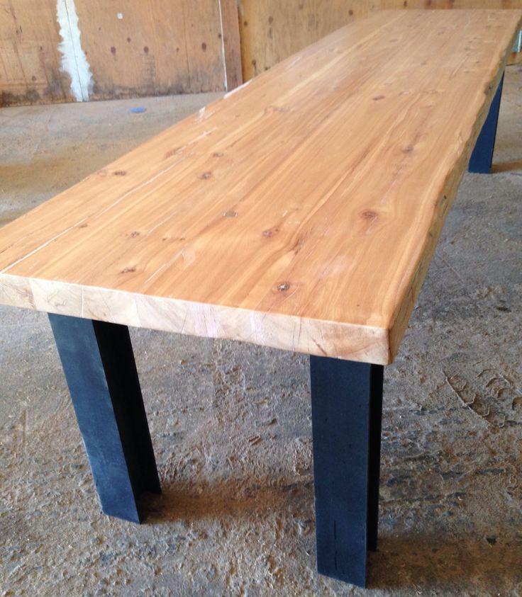 Custom Coffee Table Bases: Custom Steel I Beam Table Base
