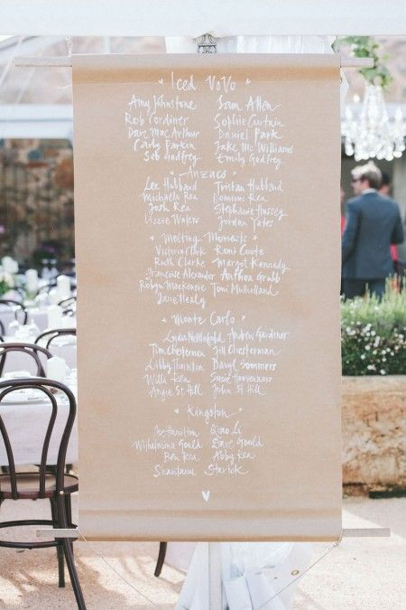 butchers paper seating planner
