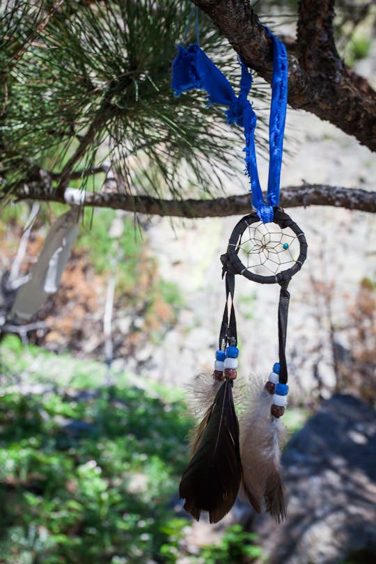 A Lakota Indian Dream Catcher at Devils Tower National Monument by Irvin Lin of Eat the Love | www.eatthelove.com