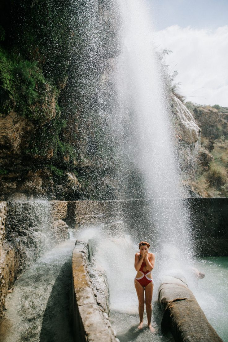 JORDAN travel guide – Swim in steaming hot waterfalls in the Ma'in Hot Springs of Jordan -https://ourgoodadventure.com/2017/06/jordan/