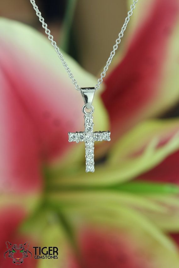 107 best cross images on pinterest small cross 925 sterling silver pendant necklace by tigergemstones mozeypictures Choice Image