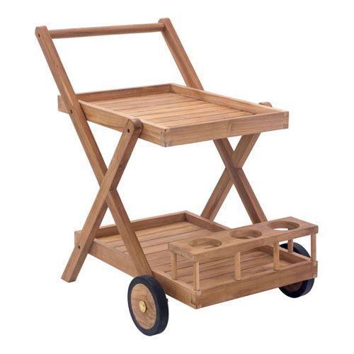 The Regatta Trolley will be the perfect addition to your backyard barbeque. Whether dining al fresco, or having drinks by the pool, this modern outdoor serving cart has a place for everything you could possibly require.