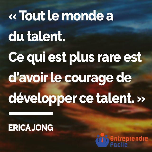 """#citation : """"Le talent...""""   #entrepreneur #entreprendre #entreprendrefacile #startup #Conseil #management #business #enseigne #stratégie #franchise #PME #entreprise #quote"""