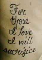 army, marine, navy, air force, love, sacrifice, honor, brave, bravery, tattoo, rib, rib tattoo