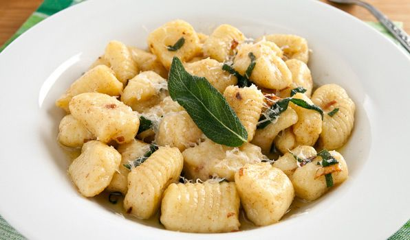 Forget dusting off the pasta machine. Roll it out freestyle! Homemade Gnocchi with Butter and Sage.