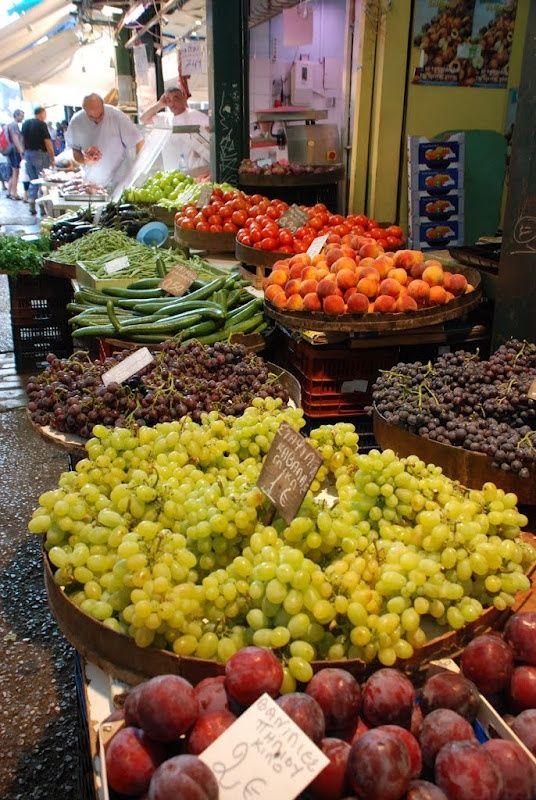 Kapani Market, Thessaloniki, Greece.