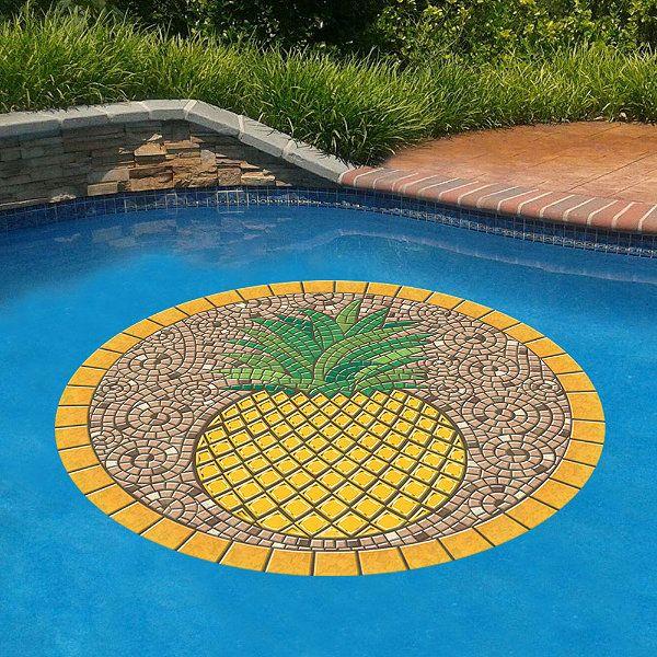 Pineapple Pool Mat Frontgate Pool Mat Pool Medallion Pool Decor