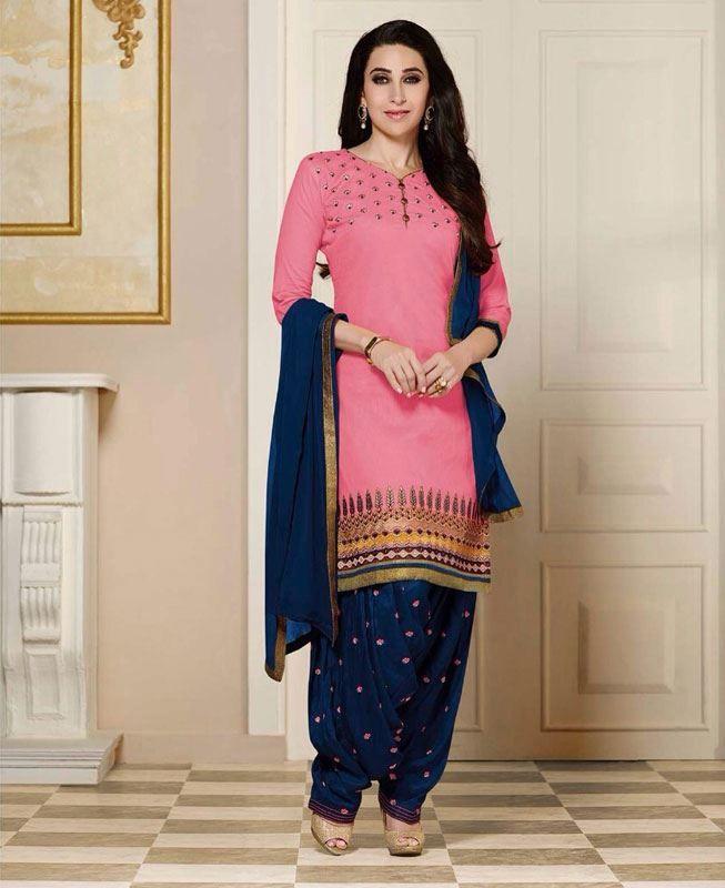 Buy Gorgeous Pink & Blue Bollywood Salwar Kameez online at https://www.a1designerwear.com/gorgeous-pink-blue-bollywood-salwar-kameez Price: $26.22 USD