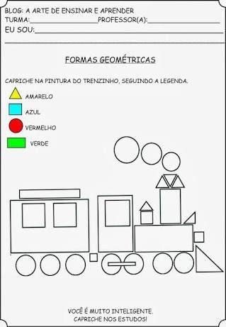 Resultado de imagen para atividades sobre aS FORMAS GEOMETRICAS