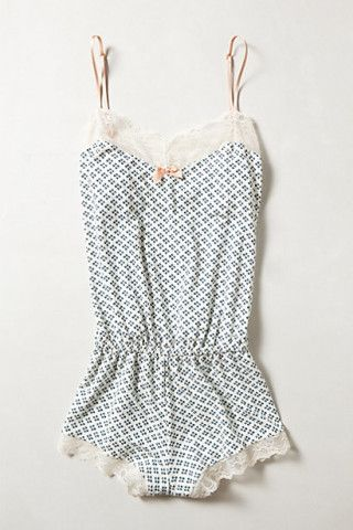 Eberjey Pistacia Romper - would make really cute pyjamas!