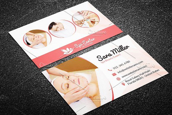Beauty Salon Spa Business Card 41 by Made by Arslan on @creativemarket