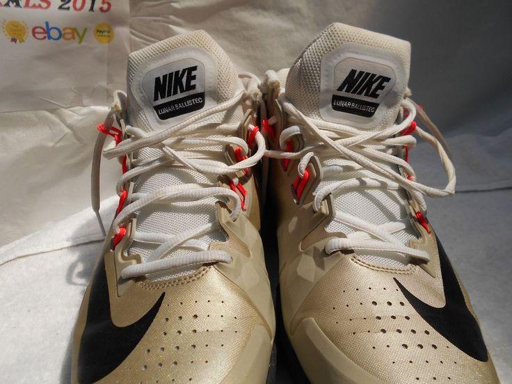 Nike Mens Lunar Ballistec Shoes 631653 006 Metallic Zinc/Black Size 10 US GUC #Nike #AthleticSneakers