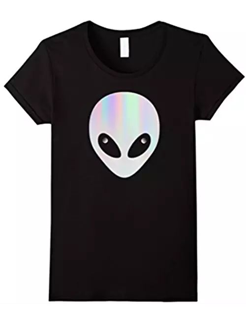 ALIEN HEAD T SHIRT COLORFUL PASTEL