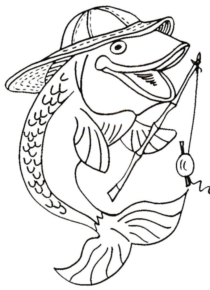 Fishing Coloring Pages To Print Fish Coloring Page Coloring Pages Free Coloring Pages