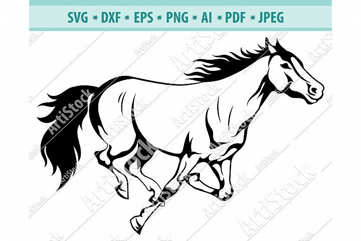 Horse Svg Mustang Svg Horse Head Clipart Dxf Png Eps Digital Ocean Crafters Svgs Horse Silhouette Svg Mustang