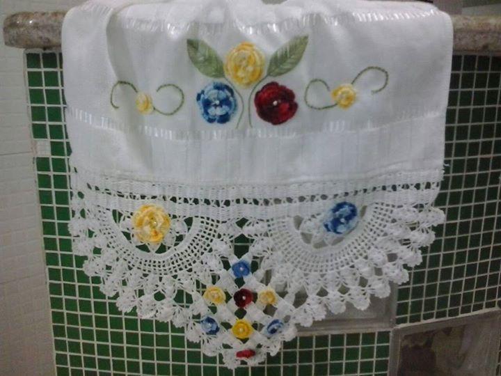 Toalha de Crochê (rosto)