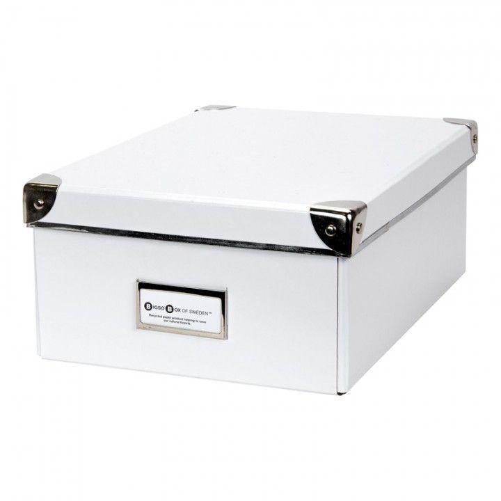 FÖRVARINGSBOX PAPP MILLE VIT 32X22,5X12,5CM - Förvaringsboxar papp - Förvaring - Inredning