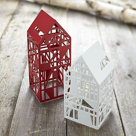 Steel laser cut houses crate and barrel architecture for Crate and barrel arch