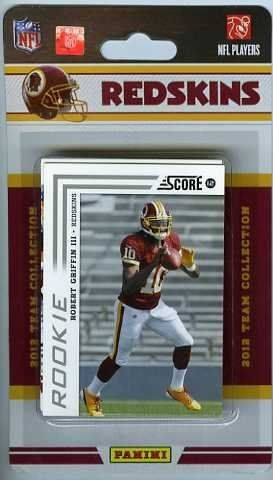 2012 Score NFL Football Washington Redskins Factory Sealed 12 Card Team Set including ROOKIE CARDS of ROBERT GRIFFIN III and KIRK COUSINS and ALFRED MORRIS!! Plus Roy Helu Jr, Deangelo Hall, Santana Moss, London Fletcher, Fred Davis, Rex Grossman, Ryan Kerrigan, Tom Hightower and Pierre Garcon!! All Cards are MINT Condition! . $12.99. Wowzzer!!  We are Proud to offer this Brand New Original Factory Sealed 2012 Score NFL Team set of the Washington Redskins! This Factory Sealed S...