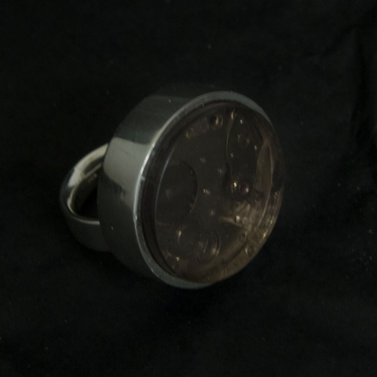 Around Time 2 (ring) 2008 Sterling Silver 43 gr, Brown Plexiglas