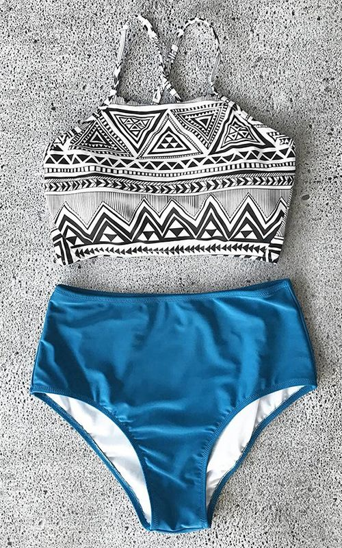 This summer is gonna be so lit! Treat yourself to the hottest items of the season. This swimsuit gives you soft texture and comfy feeling. Pair this set with some strappy sandals for a day at the beach or any pool side parties. Check them out.