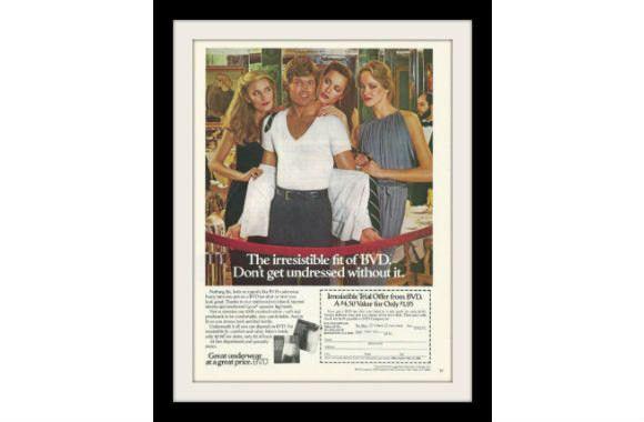 """1980 BVD Men's Underwear Ad """"Irresistible"""" Vintage Advertisement Print"""