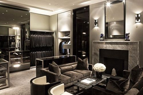 walk in closet with a living room?