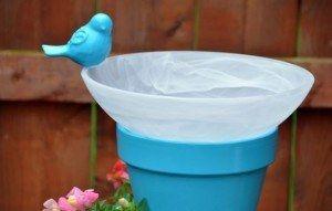 DIY Bird Bath Planter