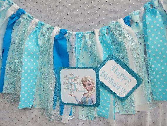 Frozen Inspired Party decor  Elsa Banner by apetitesoiree on Etsy, $32.00