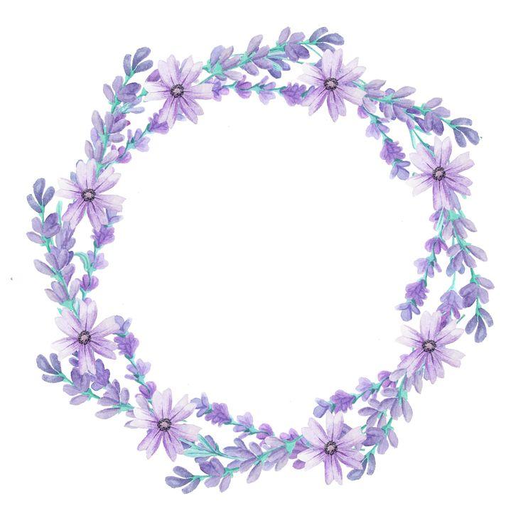 Art, flowers, cute, illustration, lavender