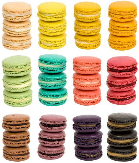 macarons... yum!: Desserts, Cookies, Color Palettes, Weddings Favors, Party Treats, French Macaroons, Color Wheels, Macaroon, Macaroons Recipe