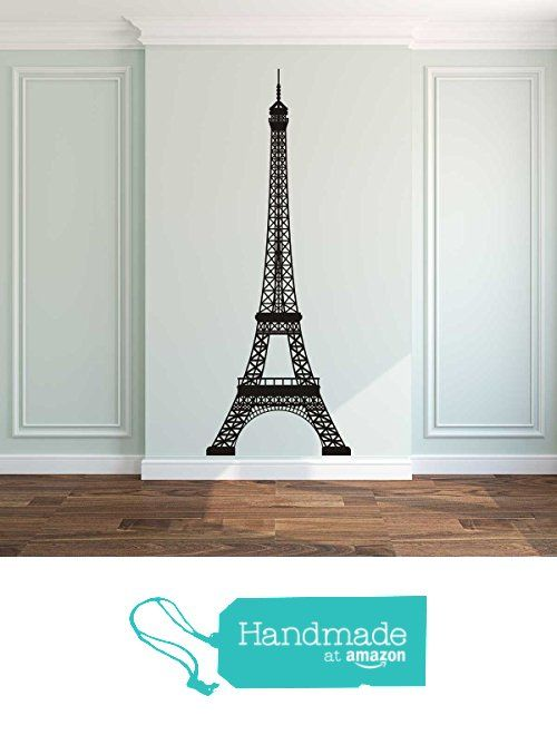 Eiffel tower silhouette vinyl wall decal sticker mural - Sticker mural tour eiffel ...